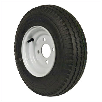 "4.80x4-8"" 4.8"" Skinny wheel (rim and tyre) Pair (x2) - Helmetkarts"