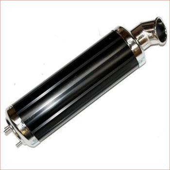 52mm / 450mm Black alloy exhaust muffler - Helmetkarts