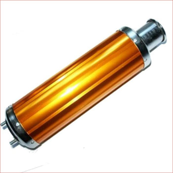 52mm / 450mm Gold alloy exhaust muffler - Helmetkarts