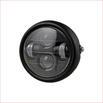 "6.5"" Matte black Head light w/ Turn light - 50 watts - Helmetkarts"