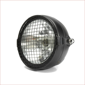 "6.5"" Matte black Mesh Head light - 40 watts - Helmetkarts"