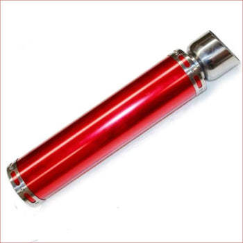 68mm / 520mm Red alloy exhaust muffler - Helmetkarts