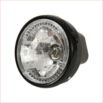 "7"" Black Head light w/ Turn light - 35 watts - Helmetkarts"