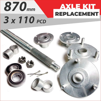 Axle replacement Bundle pack #4 - Helmetkarts