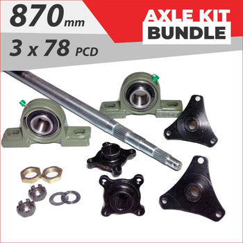 Axle running gear Bundle pack #1 - Helmetkarts