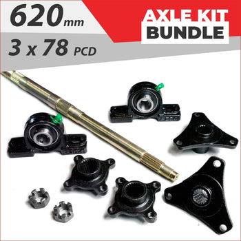 Axle running gear Bundle pack #11 - Helmetkarts