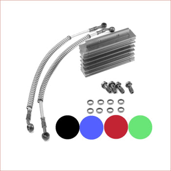 CNC Engine Oil Cooler Kit Radiator / Small - Helmetkarts