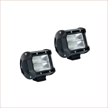 "Pair (x2) LED light 4"" 120 watts - Helmetkarts"