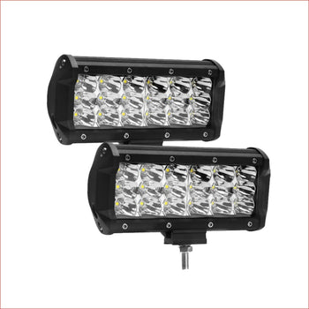 "Pair (x2) LED light bar 7"" 360 watts - Helmetkarts"