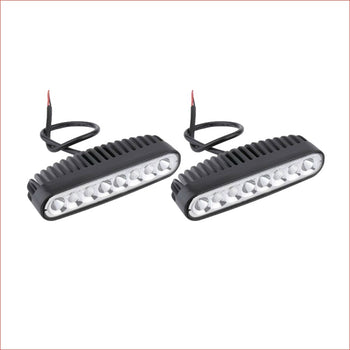 "Pair (x2) LED light bar 7"" 80 watts - Helmetkarts"