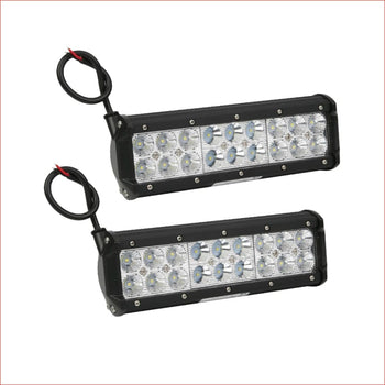 "Pair (x2) LED light bar 9"" 180 watts - Helmetkarts"