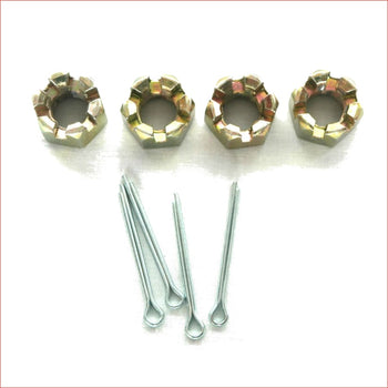 Set (x4) Axle castle nuts / split pins KIT - Helmetkarts