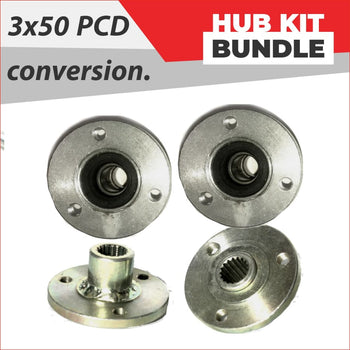 Set (x4)  Wheel hubs - Super slick conversion - Helmetkarts