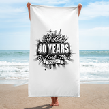 40th Birthday Beach Towel