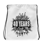 40th Birthday Drawstring bag