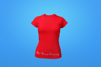 Woman's Crew Neck Shirt - Red - Customized