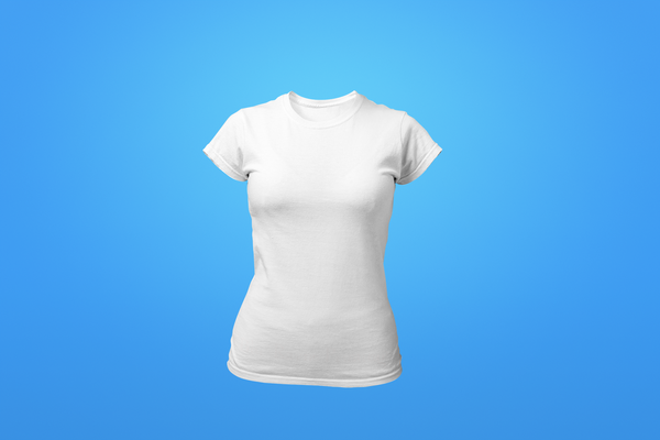 Woman's Crew Neck Shirt - White - Customized