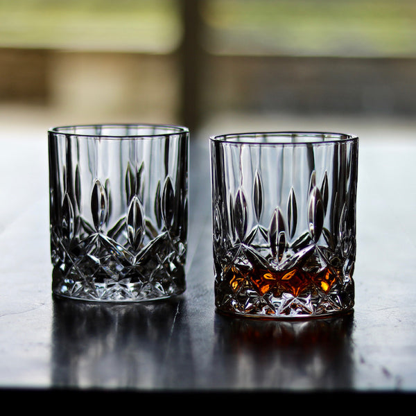 Crystal Whiskey Tumblers, Set of 2, Lunar Oceans