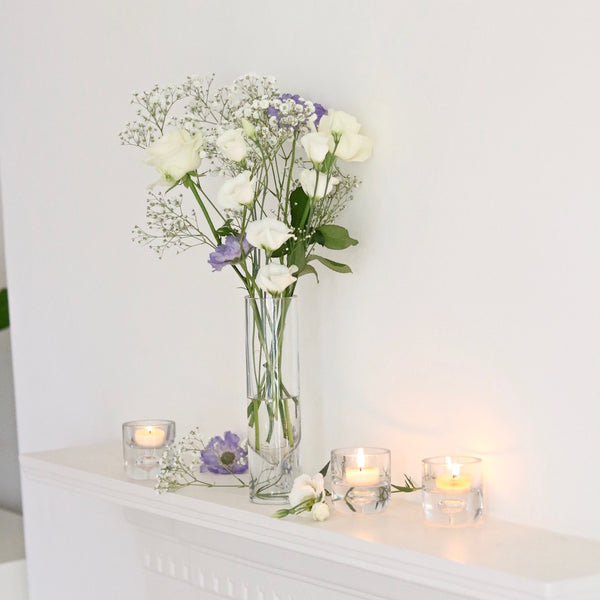 Lunar Oceans Glass Vases & Tealight Candle Holders
