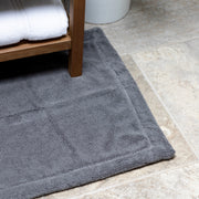 Grey Bath Mat Closeup