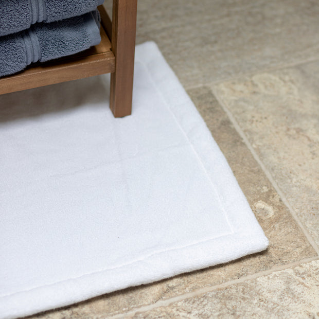 Plush White Bath Mat