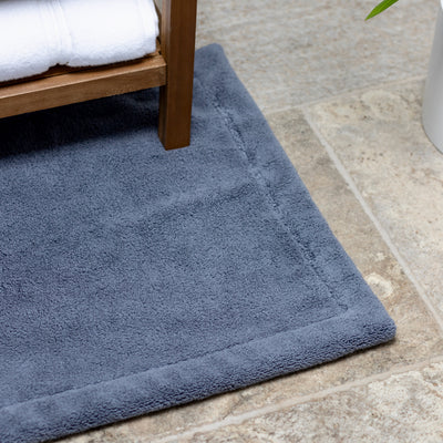 Blue Bath Mat Close Up
