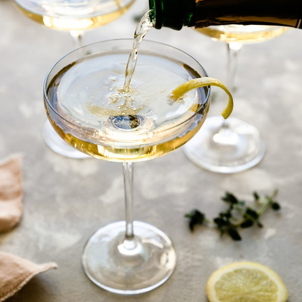 old fashioned champagne coupe glasses