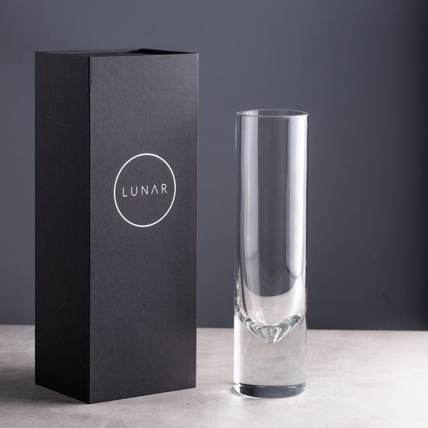 Clear Glass Flower Vase, Gift boxed
