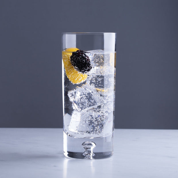 Cocktail Highball Glasses, Crystalline Gin Glasses by Lunar Oceans