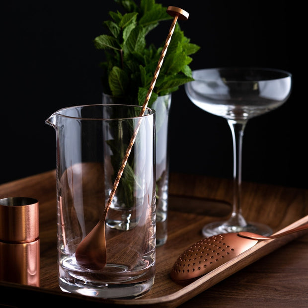Cocktail Mixing Glass Gift Set (Copper)