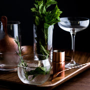 gin and tonic made from copper cocktail set