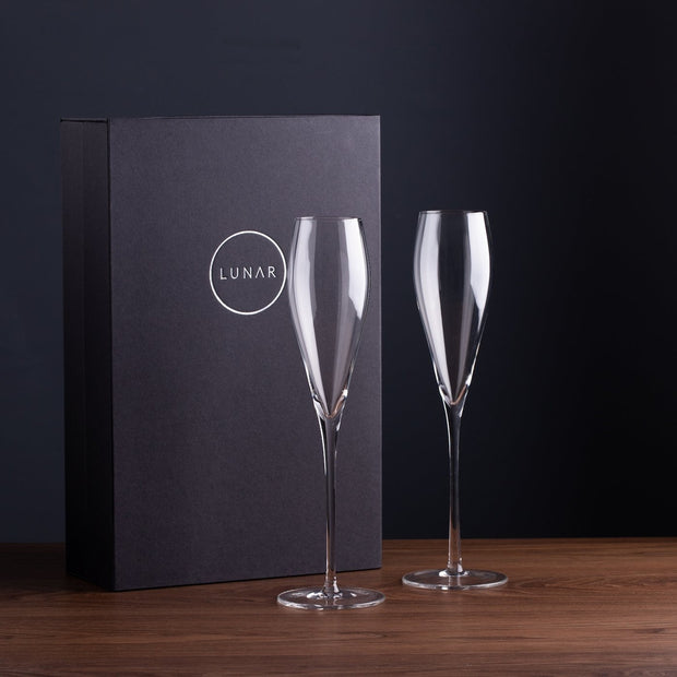 champagne flutes gift boxed