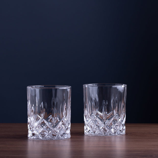 Crystal Whiskey Glasses, Set of 2