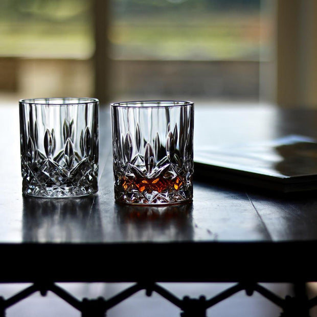 Set of 2 Crystal Whiskey Glass Tumblers by Lunar Oceans