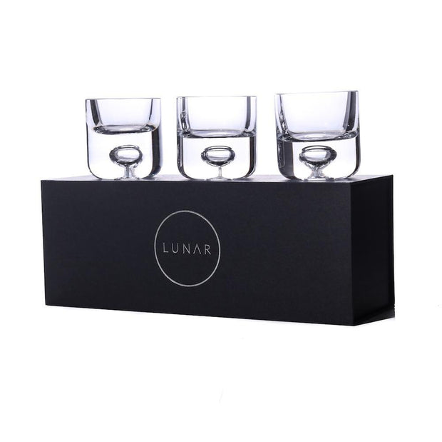 Lunar Oceans Tealight Candle Holder Gift Set of 3