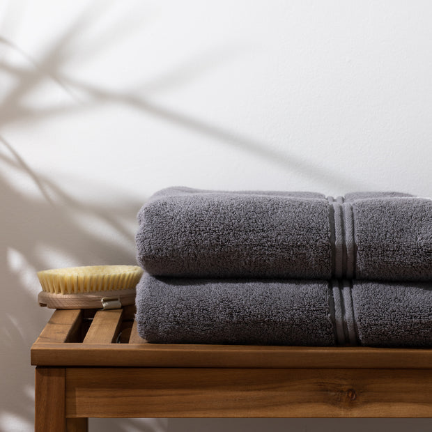 Grey Bath Towel by Lunar Oceans