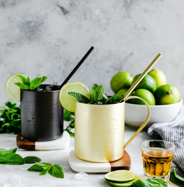Stainless Steel Mug and Straw Set