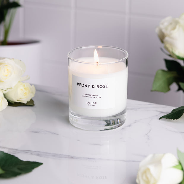 Peony Rose Scented Candle
