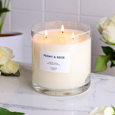 Peony & Rose 3 Wick Scented Candle 740g