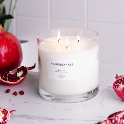 Pomegranate 3 Wick Scented Candle 740g