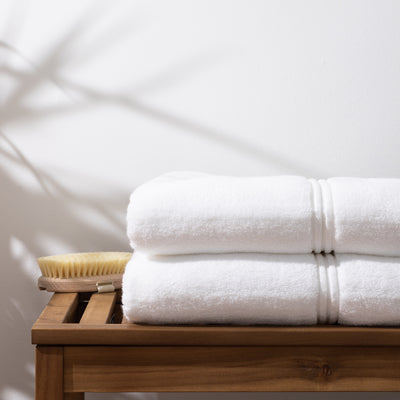 Luxury Bath Towel in White