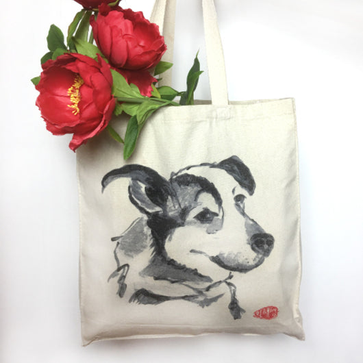 Canvas Tote Bags (Dog) Maizy