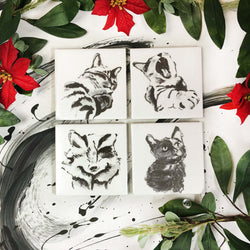 Coasters: Cats, Set of 4
