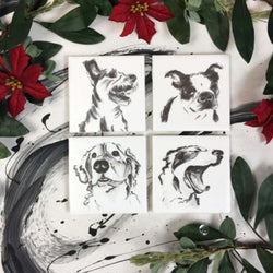 Coasters: Dogs (option 2), Set of 4