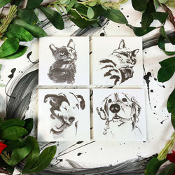 Coasters: Cats & Dogs (option 1), Set of 4