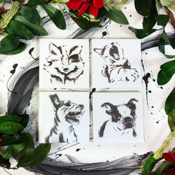 Coasters: Cats & Dogs (option 2), Set of 4