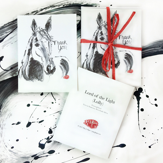 Lolly (horse): Thank You card