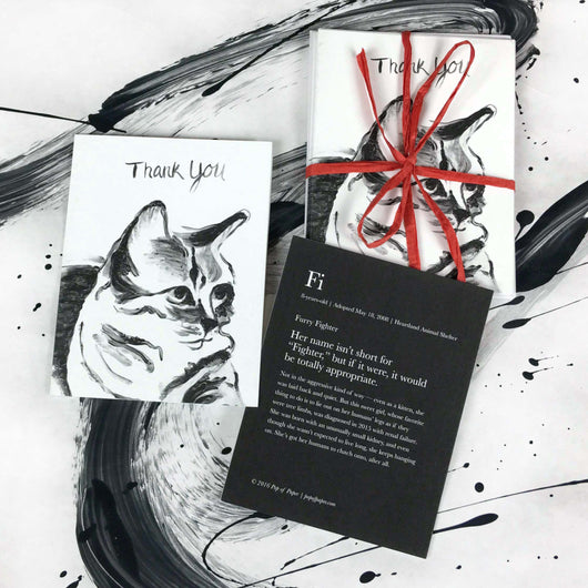 Fi (cat): Thank You Card