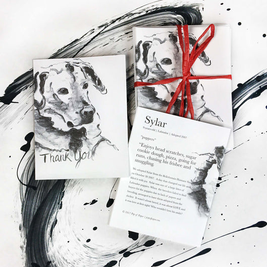 Sylar (dog): Thank You Card