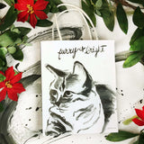 "Holiday Gift Bag (cat): Fi ""Bring on the holiday cheer!"""